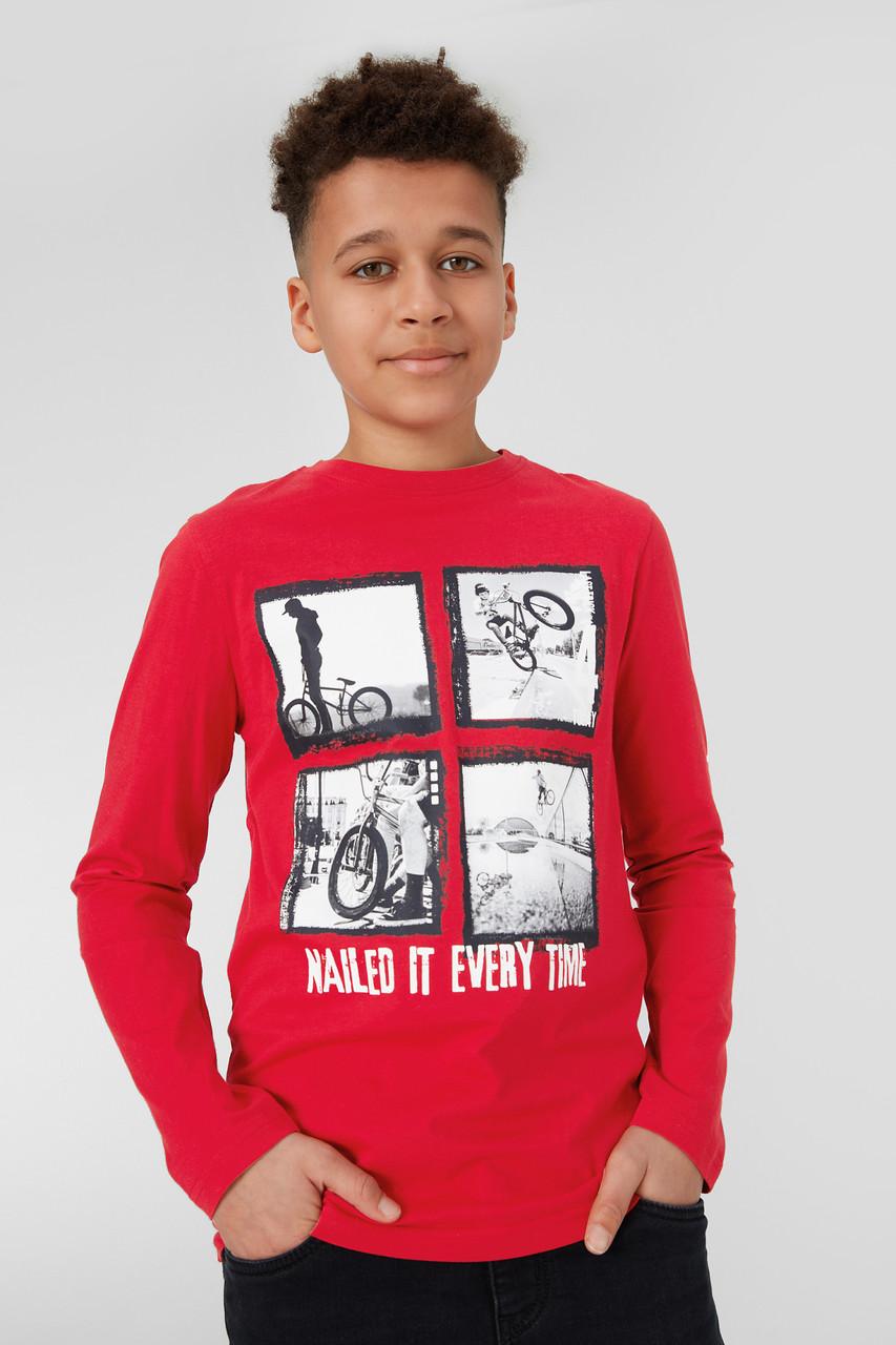 Красный реглан для мальчика подростка C&A Германия Размер 158-164