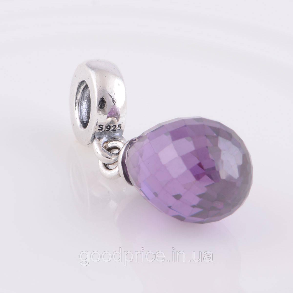 """Шарм бусина Pandora (Пандора) """"Фиолетовая капля"""""""