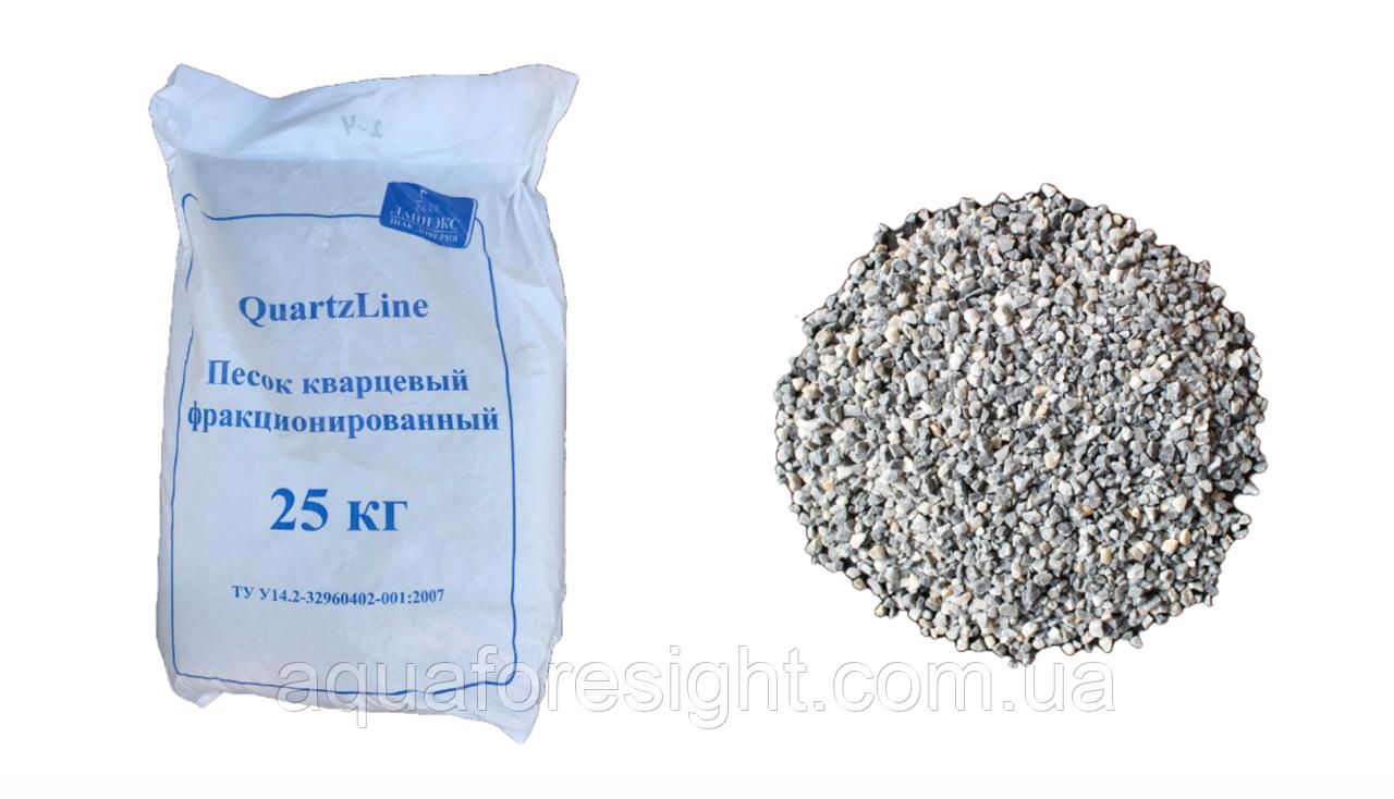 Песок кварцевый 2 - 5 мм (25 кг/мешок)