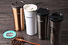 Термокружка Starbucks (Старбакс) 500 мл серебристый, фото 4