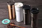 Термокружка Starbucks (Тамблер Старбакс) 500 мл черный металик, фото 6