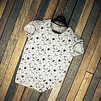 Мужская футболка летняя белая с рисунком планет Турция. Живое фото. Топ качество
