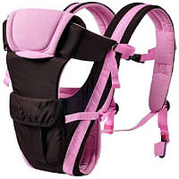 Сумка-кенгуру SUNROZ BP-14 Baby Carrier рюкзак для переноски ребенка Черно-Розовый (SUN0976), фото 1