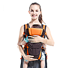 Сумка-кенгуру SUNROZ BP-14 Baby Carrier рюкзак для переноски ребенка Черно-Оранжевый (SUN0978), фото 2