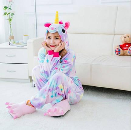 Детское кигуруми Eдинорог с звездами 110 см SKL32-218561, фото 2