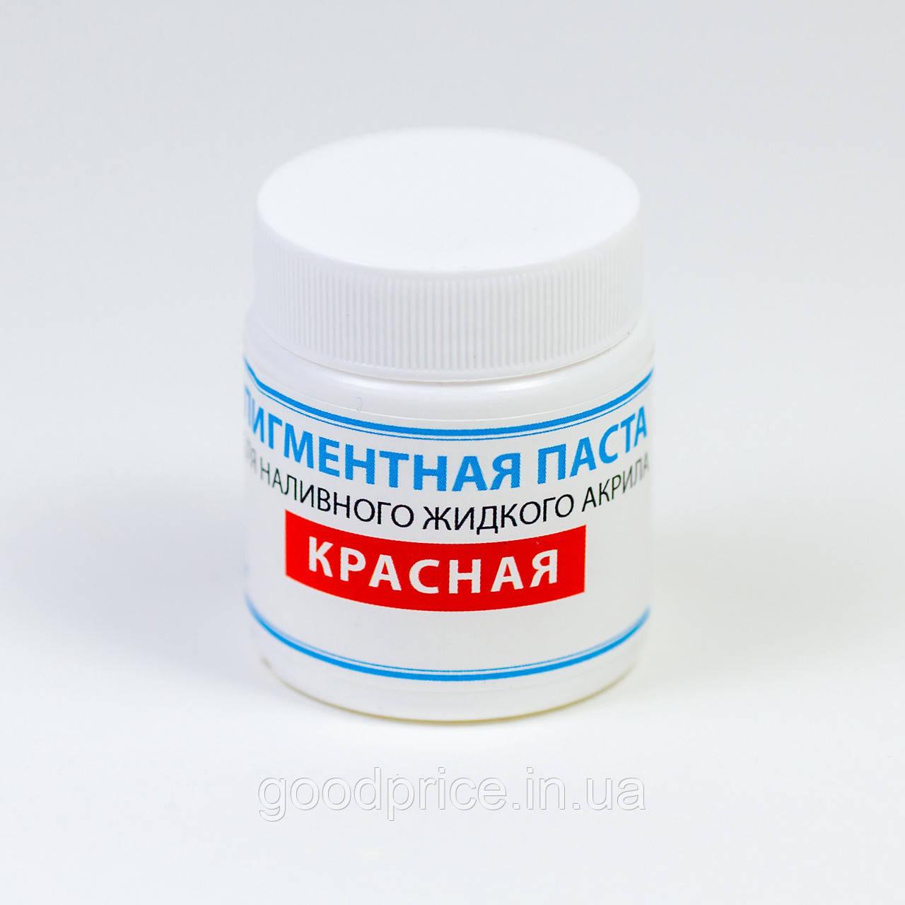 Краситель для жидкого акрила ПРОСТО И ЛЕГКО для реставрации ванн 50 г Красная ванна (5949)
