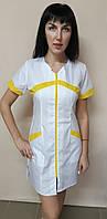 Женский медицинский халат Корра на молнии короткий рукав хлопок, фото 1