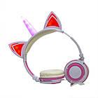 Навушники LINX Unicorn Ear Headphone з вушками Єдиноріг LED Рожевий (2996), фото 2