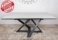 Стол обеденный раскладной FLEETWOOD NEW керамика молочный Nicolas (бесплатная адресная доставка)