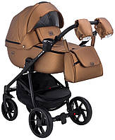 Детская коляска универсальная 2 в 1 Adamex Hybryd Plus кожа 100% Y230CZ (Адамекс, Польша)
