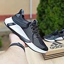 Женские кроссовки в стиле Adidas чёрные на белой, фото 5