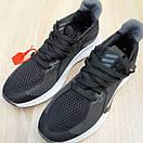 Женские кроссовки в стиле Adidas чёрные на белой, фото 9