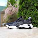 Женские кроссовки в стиле Adidas чёрные на белой, фото 10