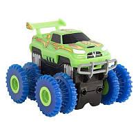 Машинка Trix Trux Monster Truk для канатного детского трека монстр-траки Зеленая