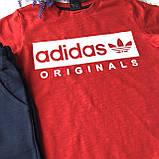 Летний костюм в стиле Adidas на мальчика 127. Размер 110 см, 128 см, фото 2