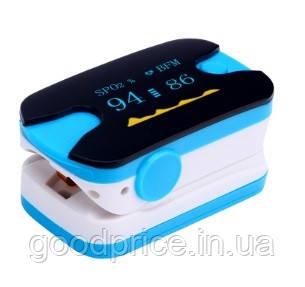 Пульсовий оксиметр SUNROZ пульсометр (пульсоксиметр) на палець Блакитний (4278_5)