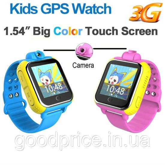 Детские умные GPS часы Smart Baby Watch Q10 (G75) с трекером 3G отслеживания и камерой цветной экран (синие)