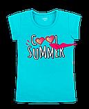 Детская футболка для девочки FT-20-16-1 *Морской Гламур*, фото 2