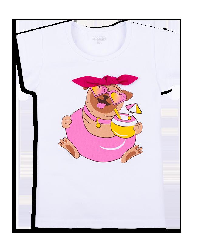 Детская футболка для девочки FT-20-16-1 *Морской Гламур*