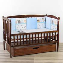 Бортики подушки сонний час з блакитним плюшем минки
