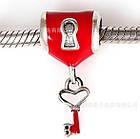 """Шарм бусина Pandora (Пандора) """"Красный замочек с ключем"""", фото 2"""