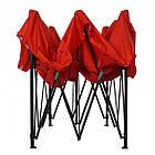 Шатер раздвижной усиленный 3х3 стойка 40 мм 26 кг красный, фото 2