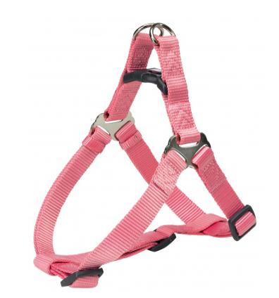Шлея-петля Trixie Premium One Touch Harness для собак нейлоновая, XL: 80–100 см/ 25 мм фламинго