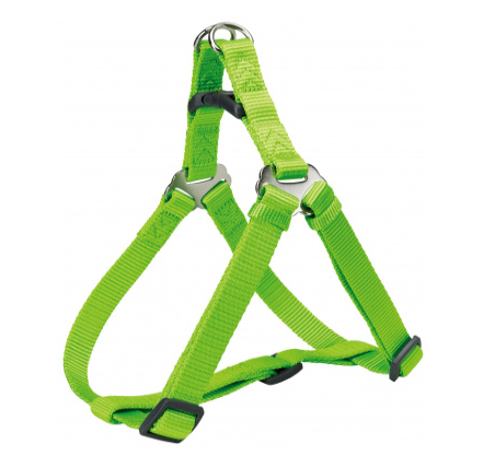 Шлея-петля Trixie Premium One Touch Harness для собак нейлоновая, XL: 80–100 см/ 25 мм ярко-зелёная
