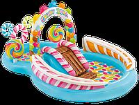 Надувной бассейн с горкой Candy Zone Play Center 57149 INTEX