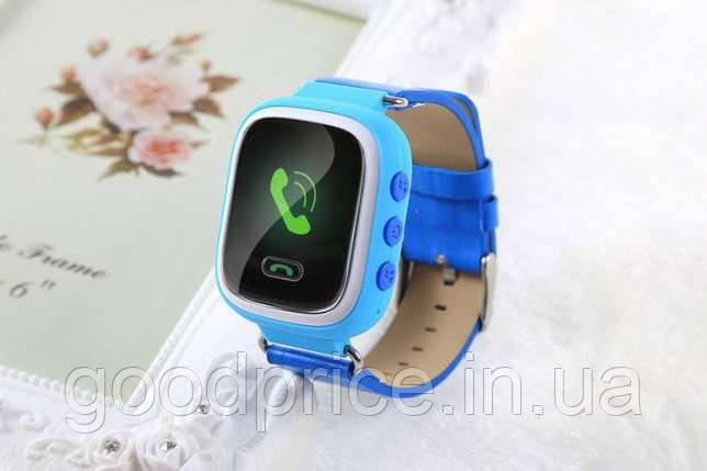 """Детские умные GPS часы Smart Baby Watch Q60 с трекером отслеживания цветной экран 1"""" (синие)"""