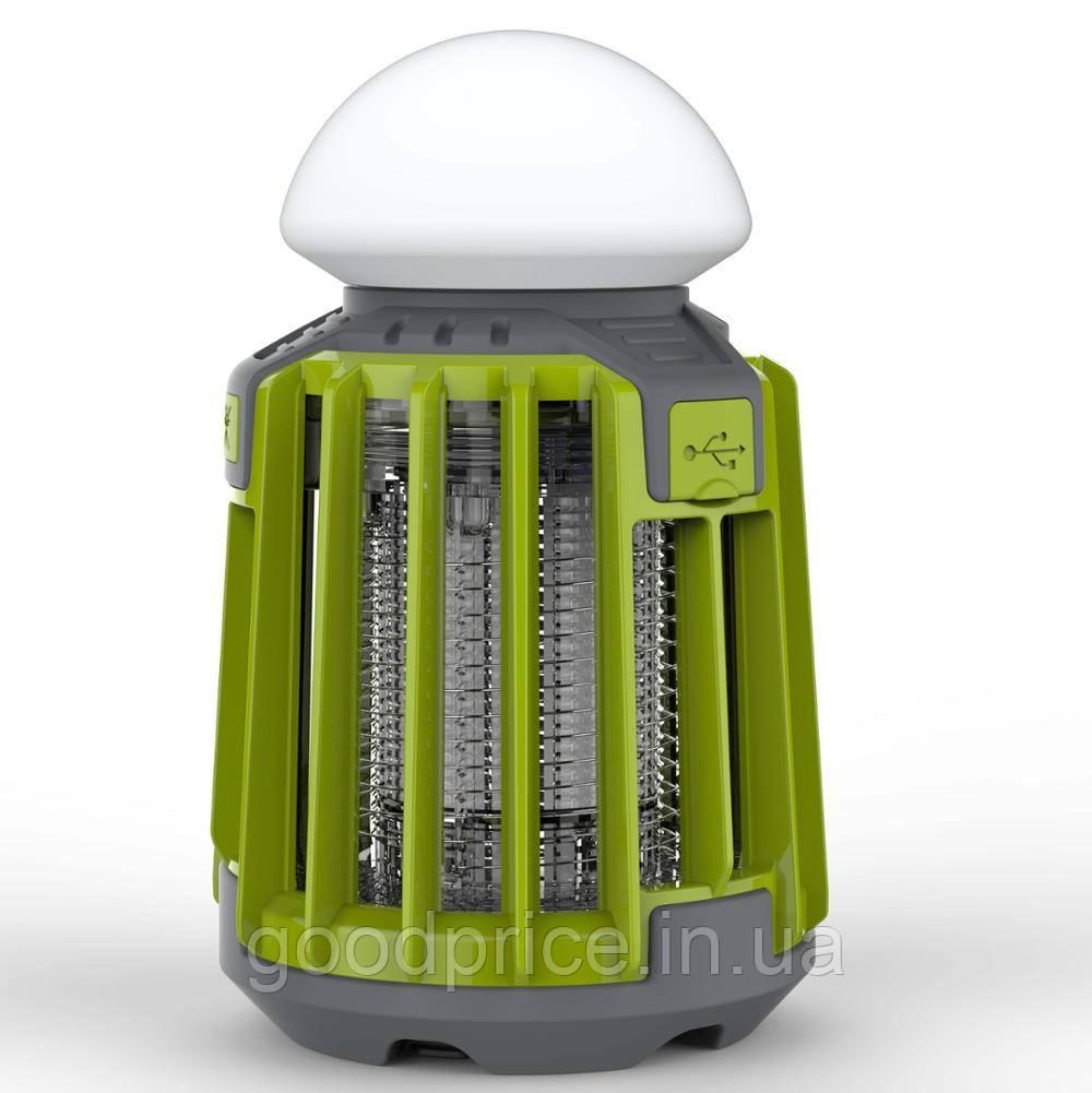 Уничтожитель насекомых SUNROZ Killer Lamp M5 IPX62в1 умный фонарь ловушка для комаров и мух 2000 мА Зеленый