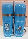 Детский термос Doraemon (Дорамун) со шнурком 350 мл, фото 2