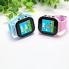 Детские умные часы телефон трекер Smart Baby Watch Q528 c сенсорным цветным экраном и фонариком (синие), фото 4