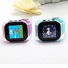 Детские умные часы телефон трекер Smart Baby Watch Q528 c сенсорным цветным экраном и фонариком (синие), фото 6