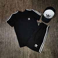 Мужская футболка Adidas летняя черная. Живое фото. Топ качество. Есть 3 цвета