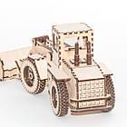 """Развивающий деревянный конструктор 3D пазл """"Экскаватор"""" (оригинальная сборная объемная модель из дерева), фото 3"""