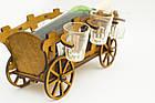 """Подарочный деревянный сувенирный набор """"Мини-бар Фира и стопки"""" ручной работы, фото 2"""
