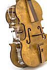 """Подарочный деревянный сувенирный набор """"Мини-бар Скрипка и стопки"""" ручной работы, фото 3"""