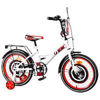 Велосипед детский двухколесный Tilly T-218212 Hero, 18 дюймов, белый