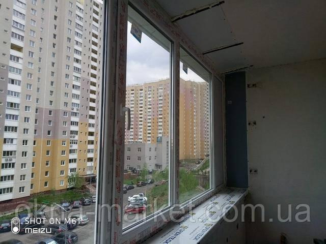 Остекление лоджий с выносом Вышгород ул. Кургузова 3а фото работы 14 бригады