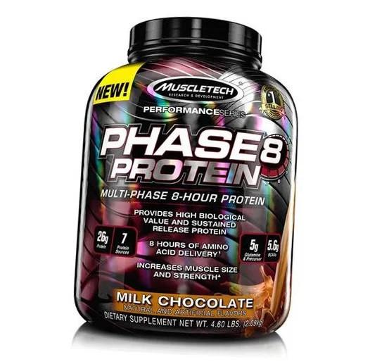 Muscletech phase 8 протеїн багатокомпонентний протеїн ізолят казеїн