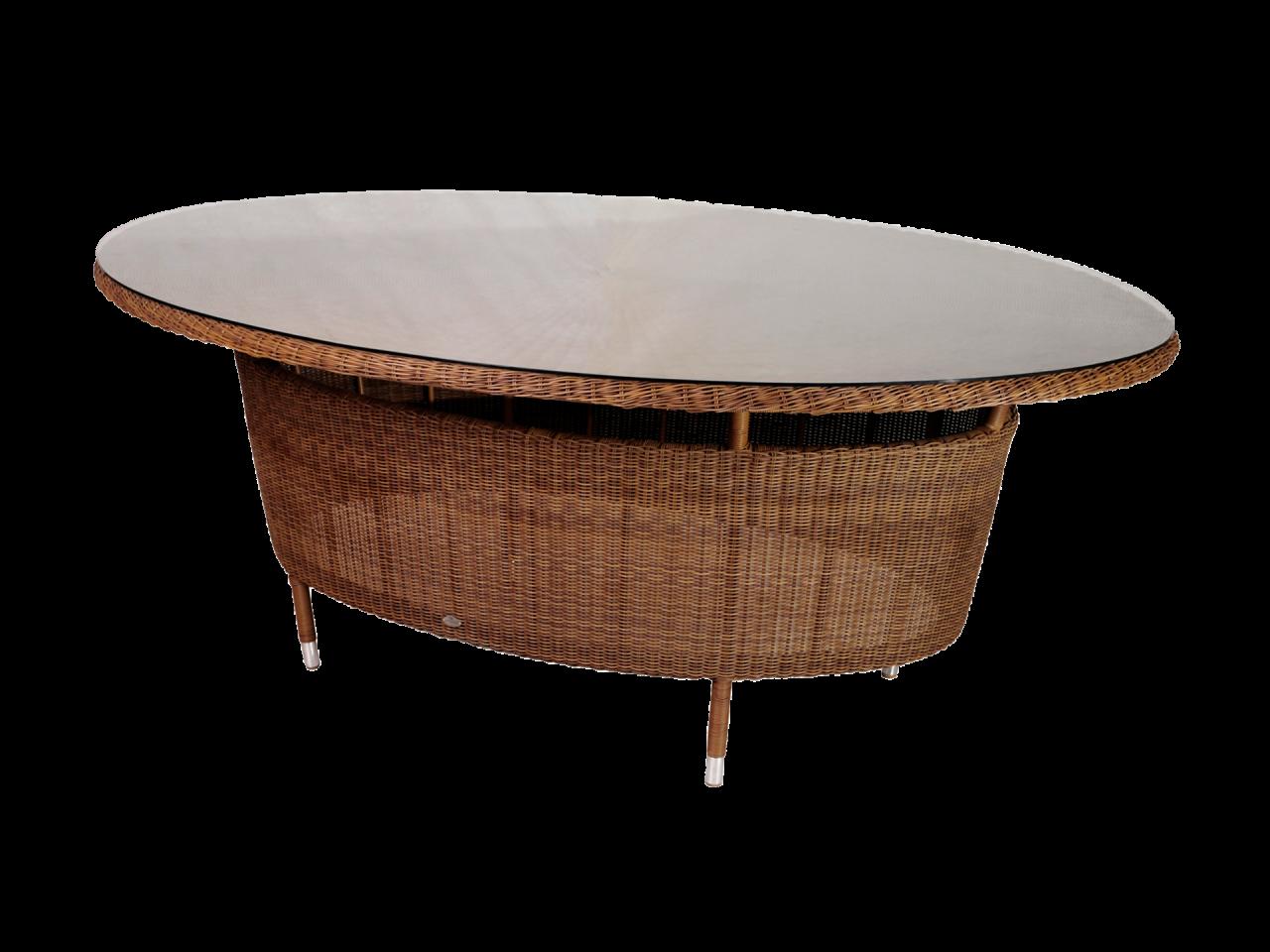 Сан-Марино Овальный Стол 2,0 × 1,55 м Стекло