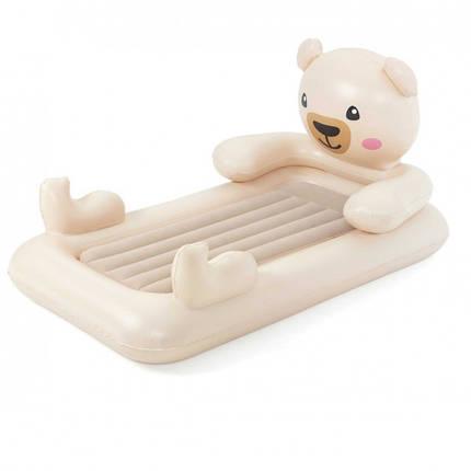 Детская надувная велюр-кровать Bestway Мишка Teddy 67712, фото 2