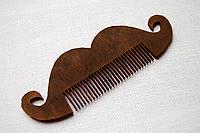 """Деревянный гребешок для бороды и усов """"Усики-2"""" ручной работы"""