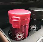 Термокружка вакуумная для горячих и холодных напитков 380 мл белая, фото 5