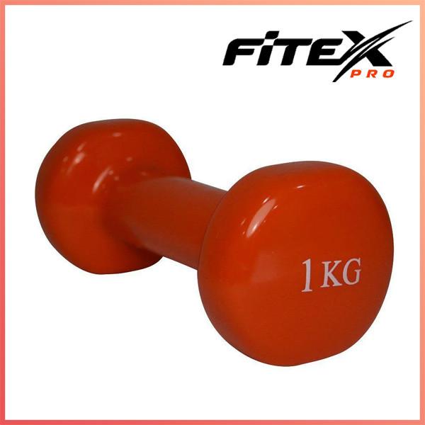 Гантель виниловая Fitex MD2015-1V, 1 кг