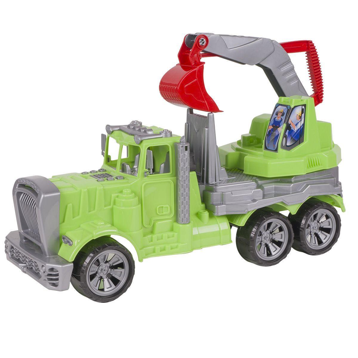 Авто грузовик-экскаватор (салатовый) Орион