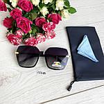 Стильные черные солнцезащитные очки линза polarized, фото 9
