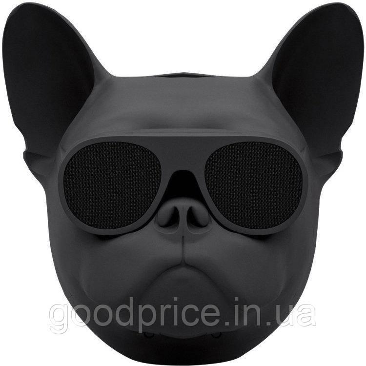 Беспроводная портативная Bluetooth колонка SUNROZ Aerobull Dog Chrome Black