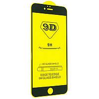 Защитное стекло TDG 9D для Apple Iphone 6 / 6S Full Glue черный 0,26 мм в упаковке